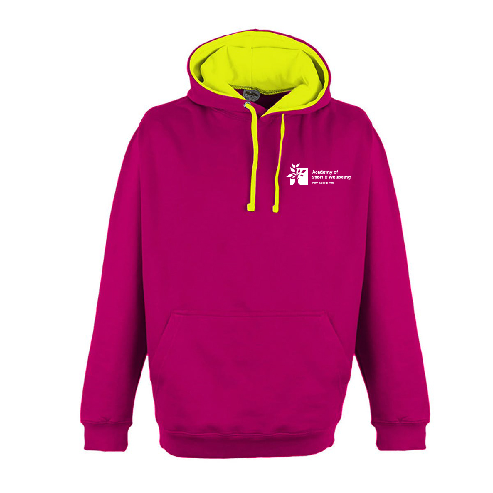 Bright coloured hoodie