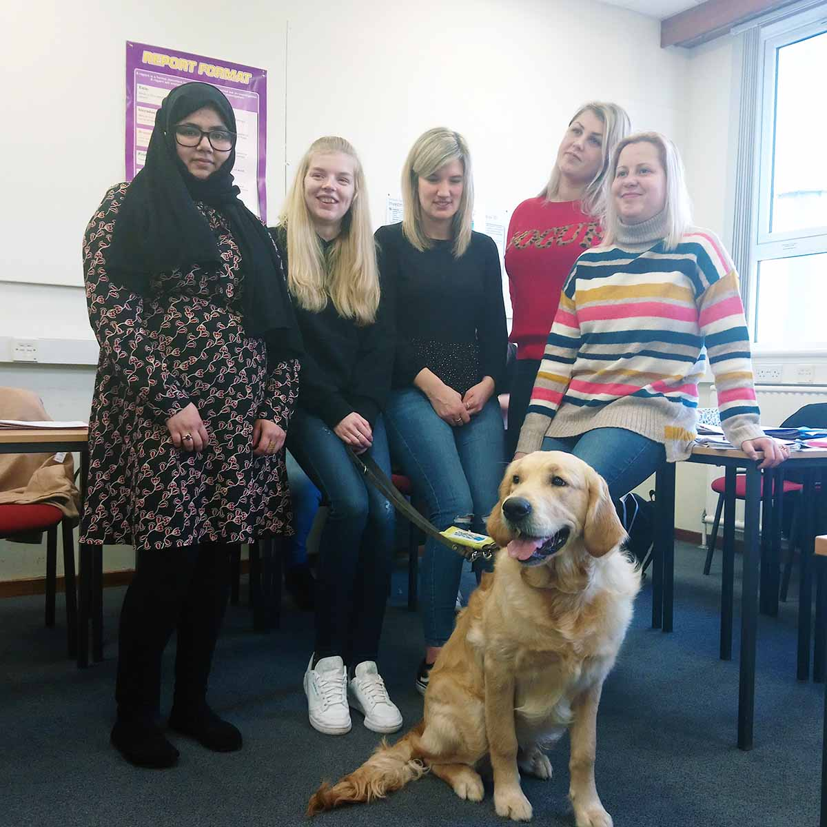 Students raise funds for Guide Dogs Scotland