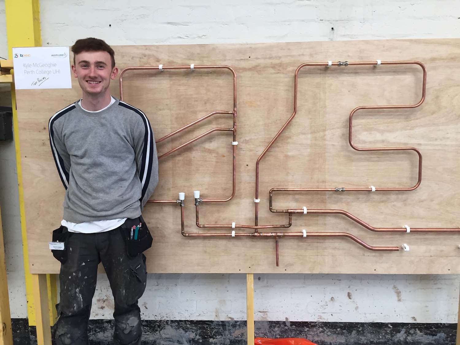 Students Success at Scottish Colleges SkillPLUMB Competition
