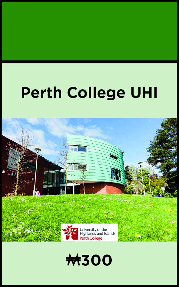 Perth College UHI Campaigning for Landmark Spot in the New Perth and Kinross Monopoly Edition