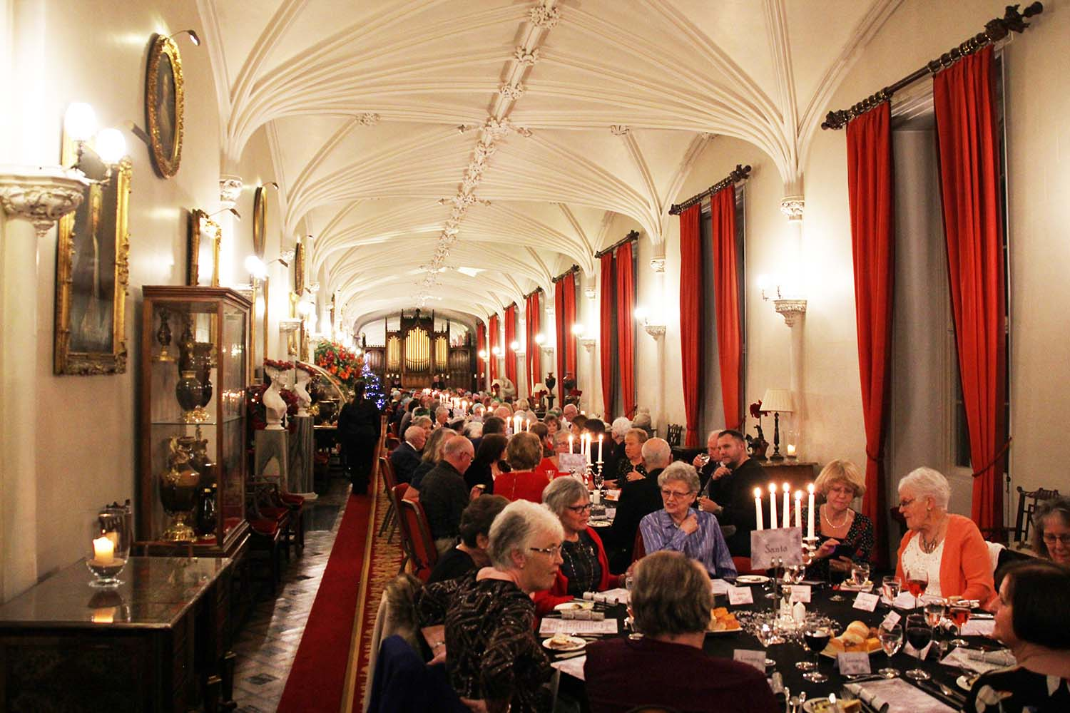 Students impress with Scone Palace fine dining experience