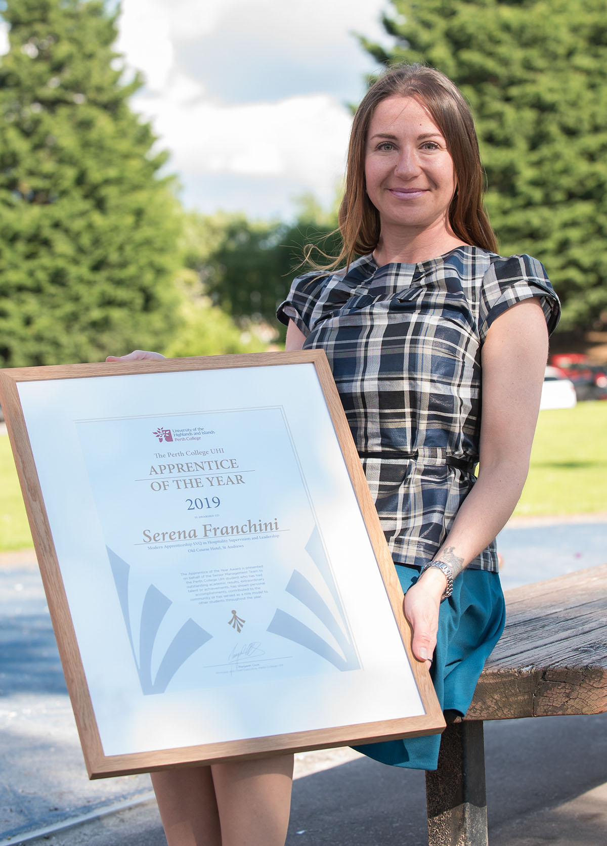 Serena Franchini, Perth College UHI Apprentice of the Year Award 2019 - Joint winner