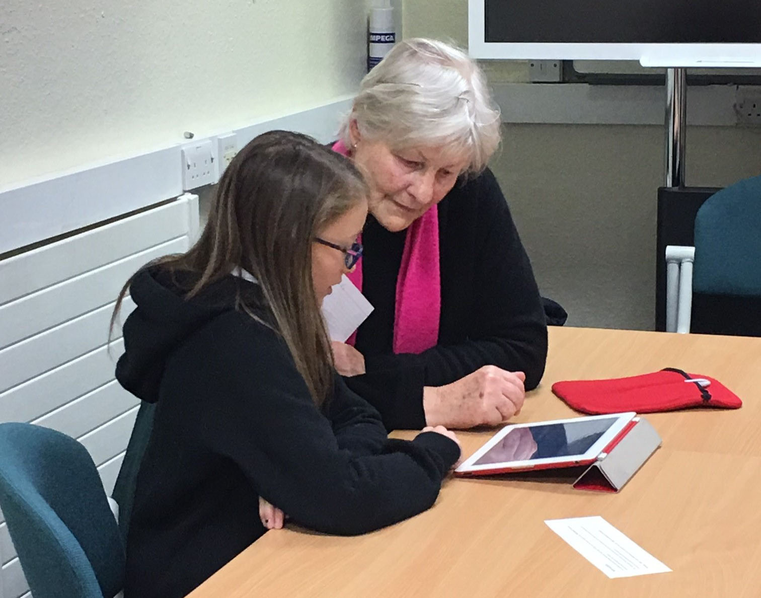 Young people help older generation in using new technology