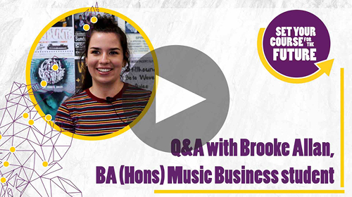 ba hons music business brooke allan q and a video